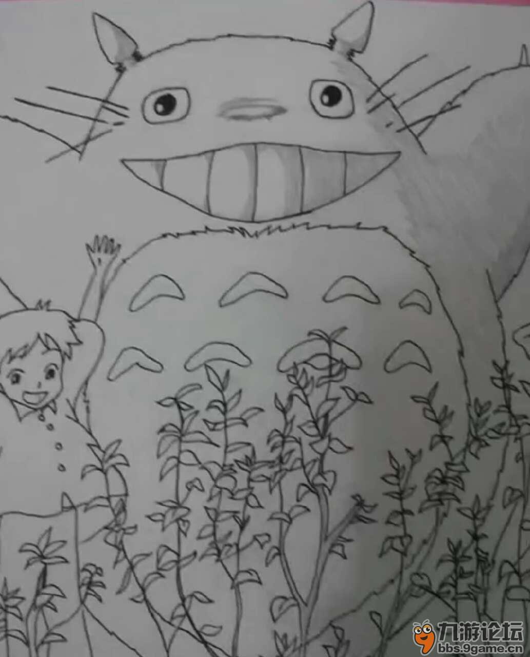 龙猫简笔画大全