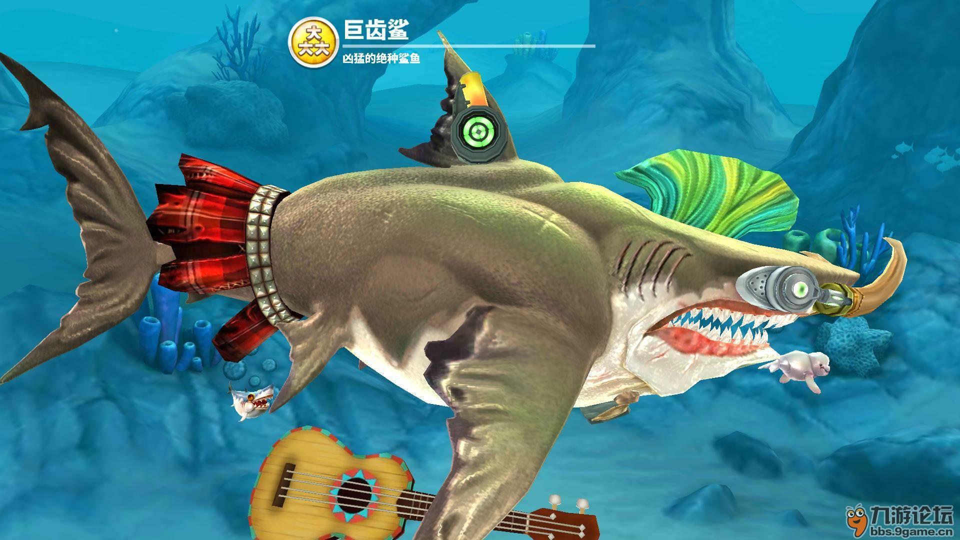 巨齿鲨飘过图片