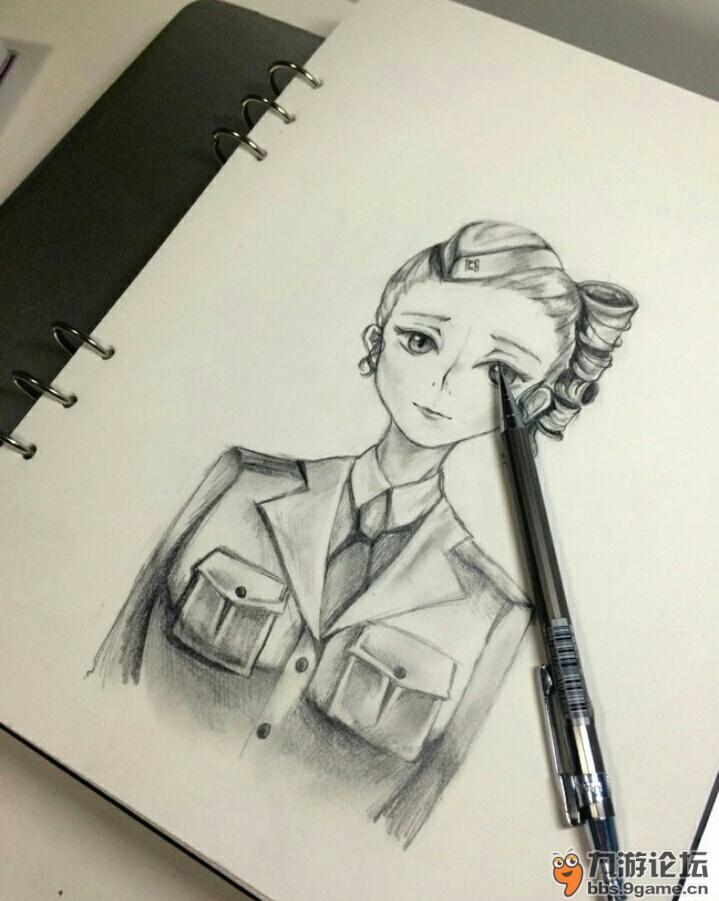 今天用铅笔画的,还行吧